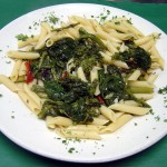Broccoli Rabe over Penne Pasta