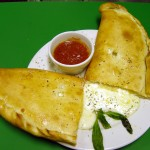 Large Calzone cut open