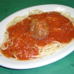 Lunch Spaghetti with meatball